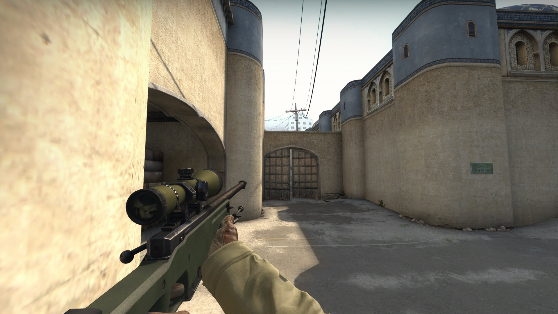 After that you have to look at the doubledoors and aim where i´ve marked on the screenshots. & Steam Community :: Guide :: How to deal with AWP´s in T Spawn on ...