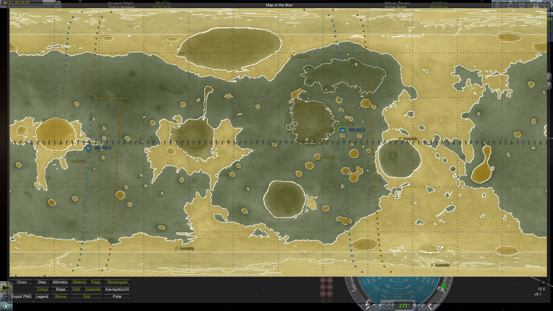 Steam Community Screenshot Mun Biome Anomaly Map Scansat