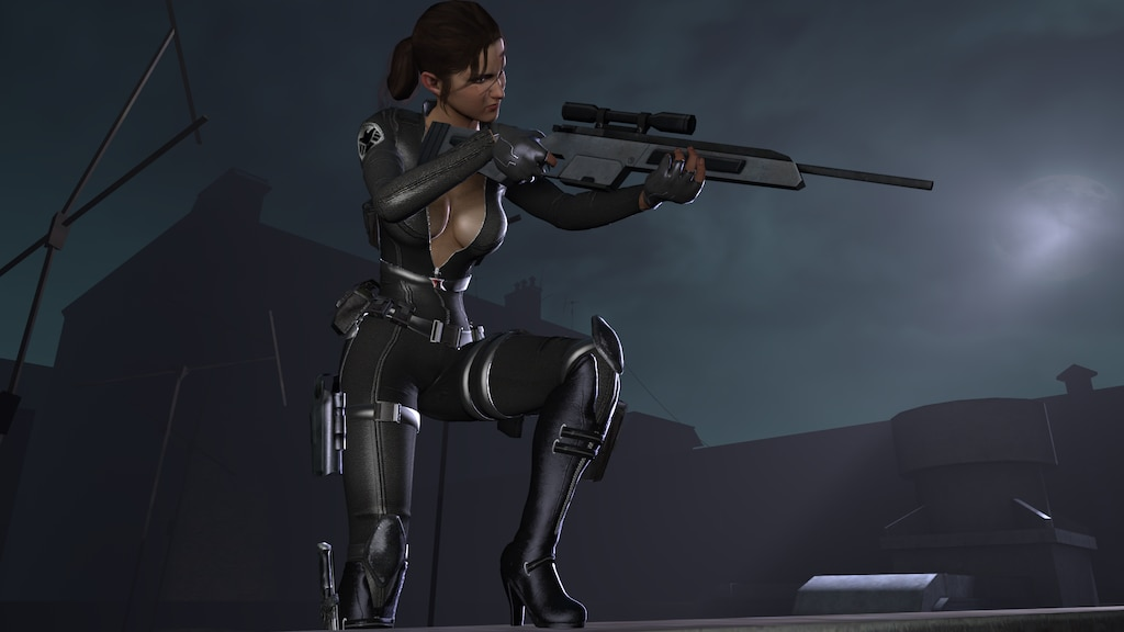Steam Community :: :: Secret Agent Zoey (Geared) SFM Image