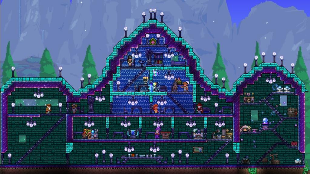Terraria Christmas House.Steam Community Screenshot Rainbow House 3 Terraria