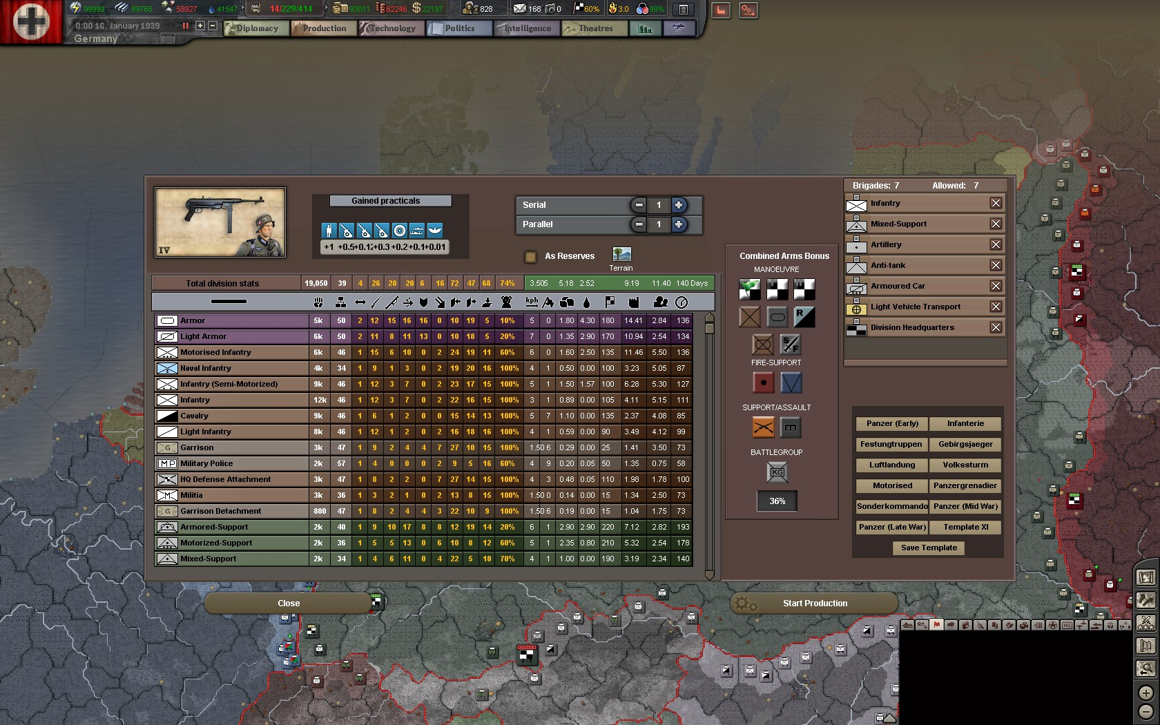 ... OF ZE BOX. With technology upgrades you can increase the size of your  combined bonus. Ex- my 1943 divisions have close to a 40 or 50 percent  bonus in ...