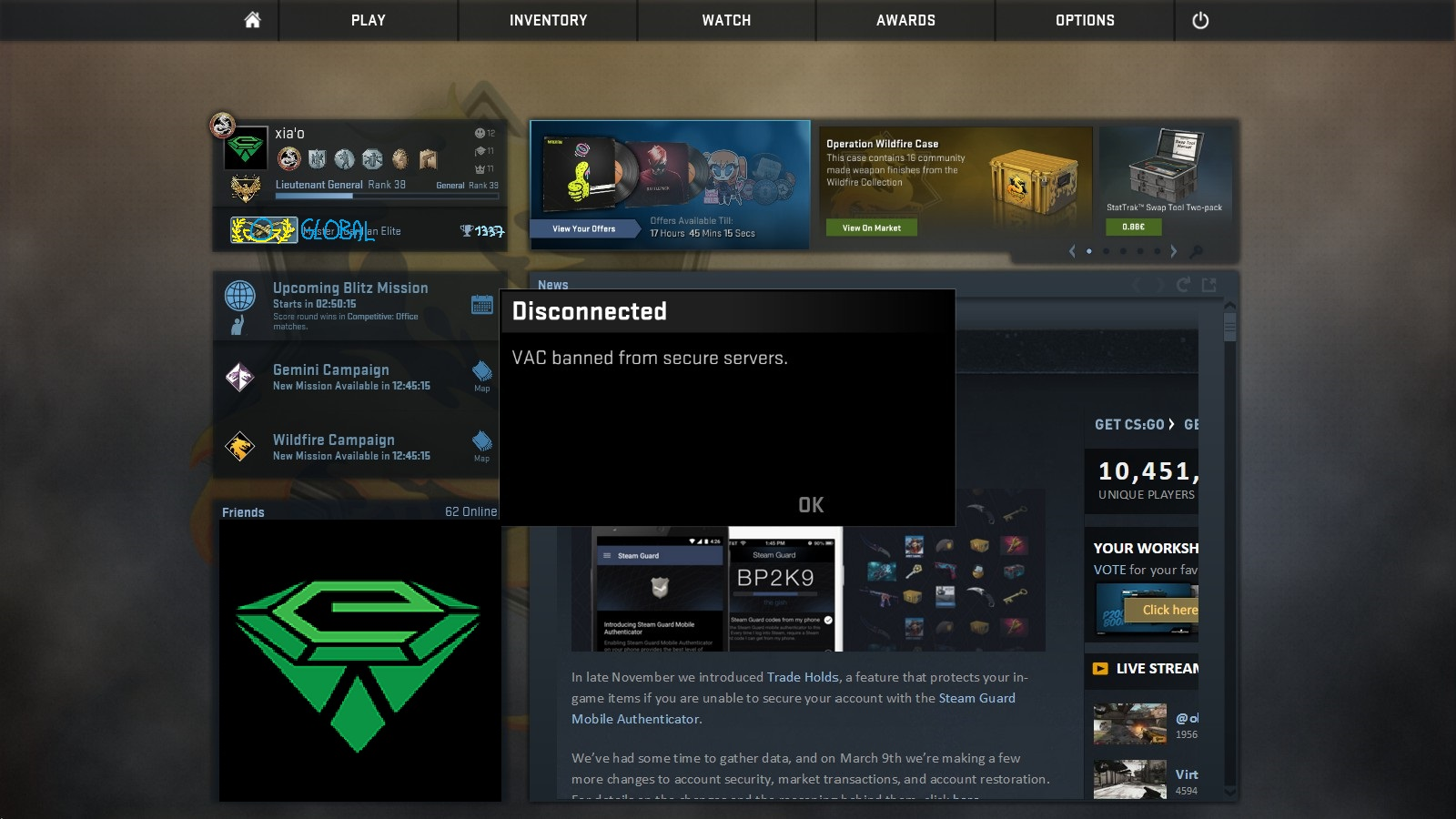 Vac Ban Steam Profile Troll: Steam Community :: Guide :: ♦ CS:GO