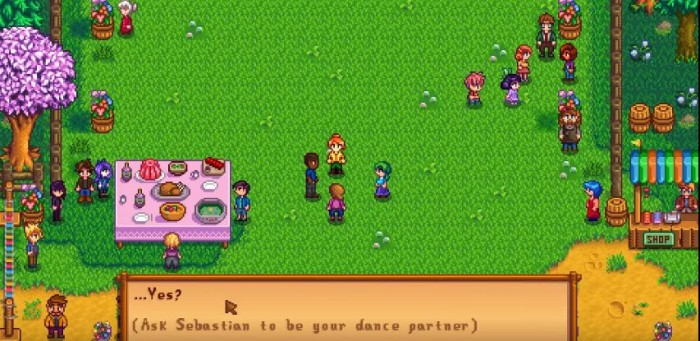 how to invite someone to flower dance stardew valley