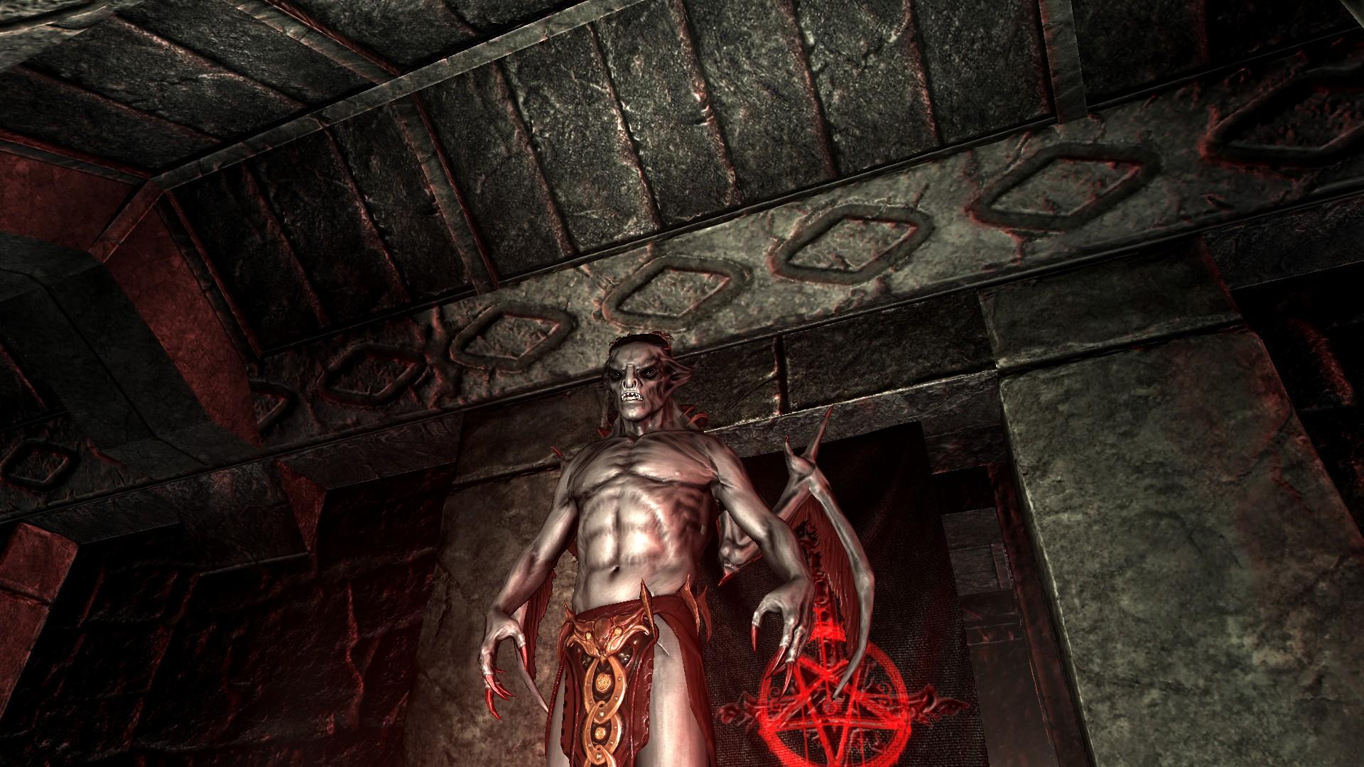 Skyrim моды Vampire Lord Retexture Digitalbrod