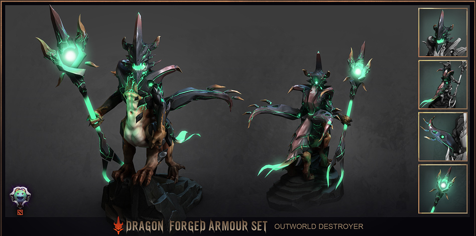 steam workshop outworld destroyer dragon forged armour