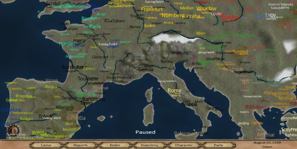 Steam Community :: Screenshot :: 1257 ad mod, august 10 1259 Nation of  Prospero (black), formerly known as The Black Hand (previous scotish  warlord).