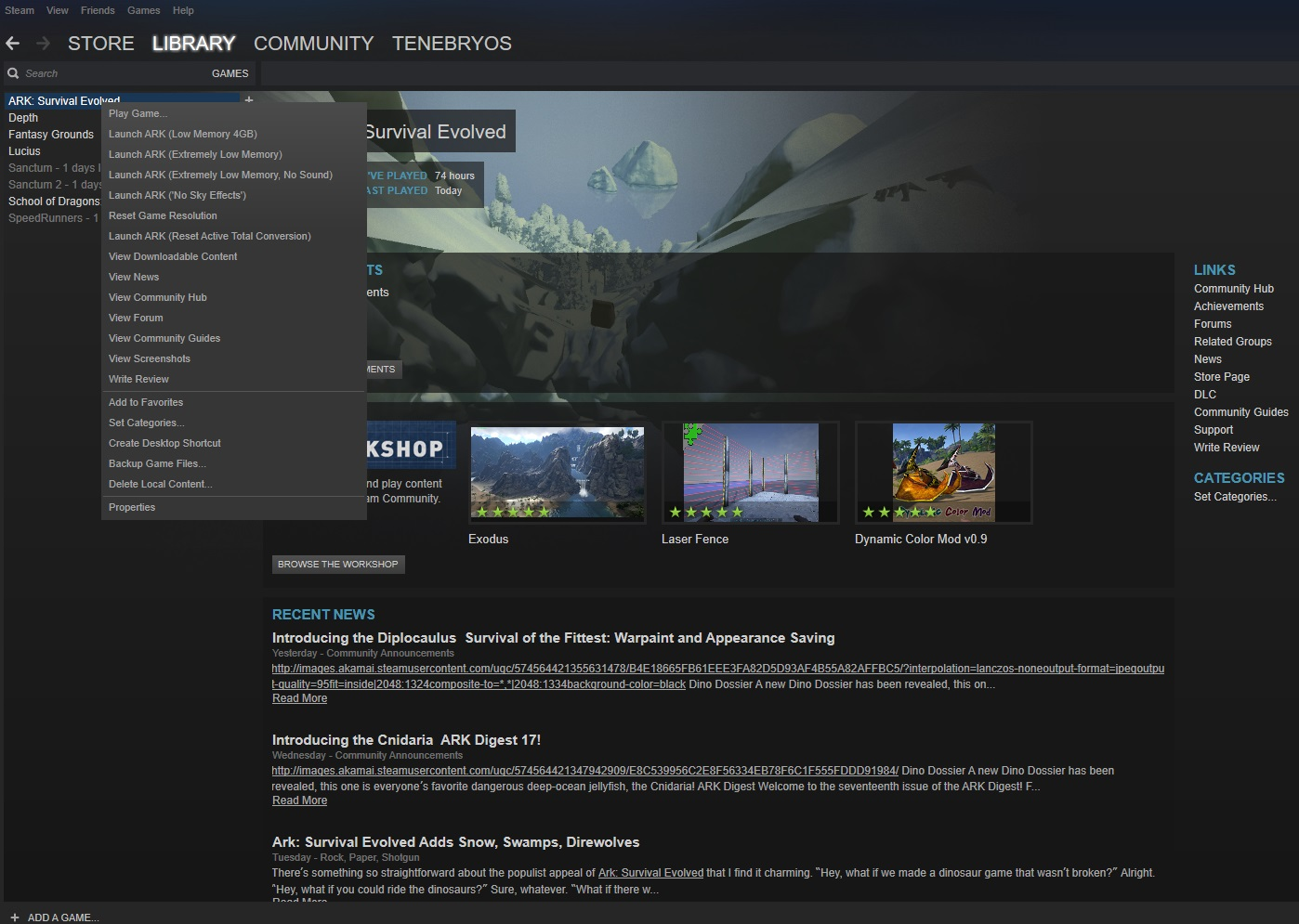 Steam Community :: Guide :: ARK: Survival Evolved - Old PC