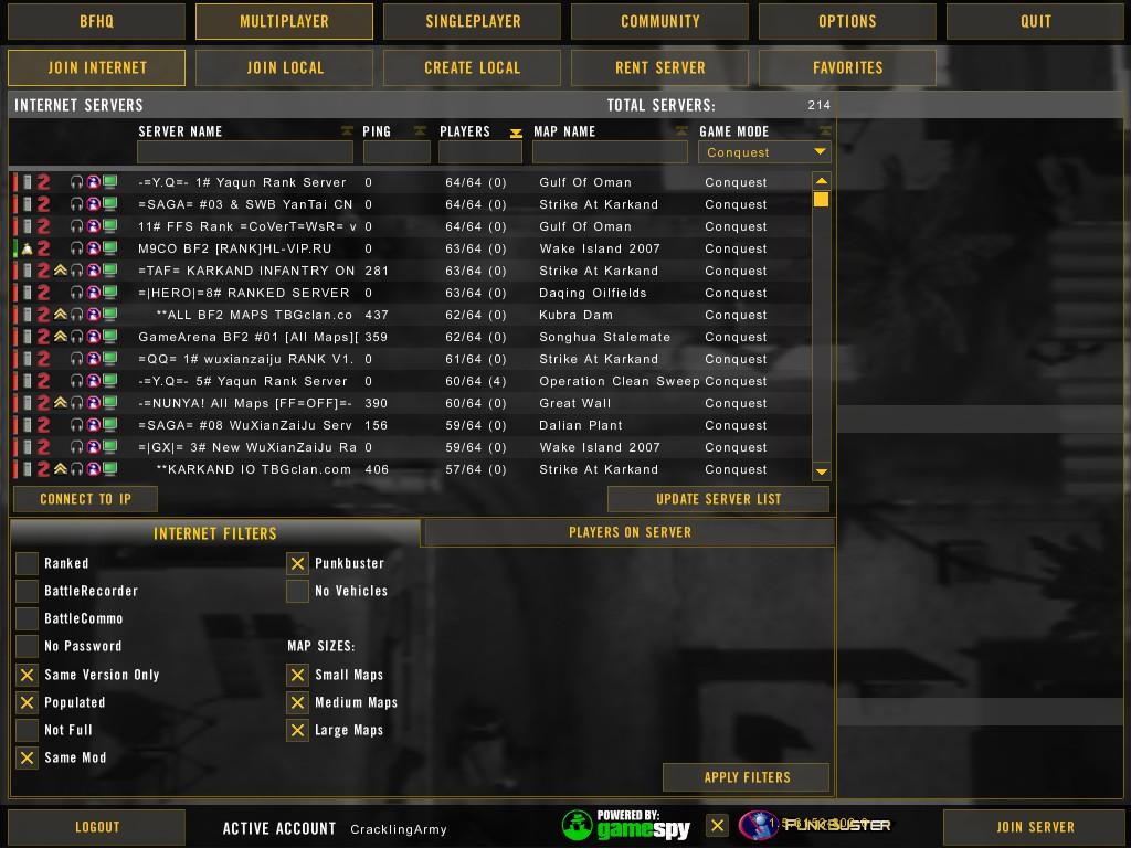 Battlefield 2 stats not updating 2011