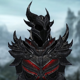 Steam Workshop The Elder Scrolls V Skyrim Daedric Playermodel Dragon armor is a great deal easier to make, but is slightly less effective, it also has a light armor side while daedric does not. elder scrolls v skyrim daedric playermodel