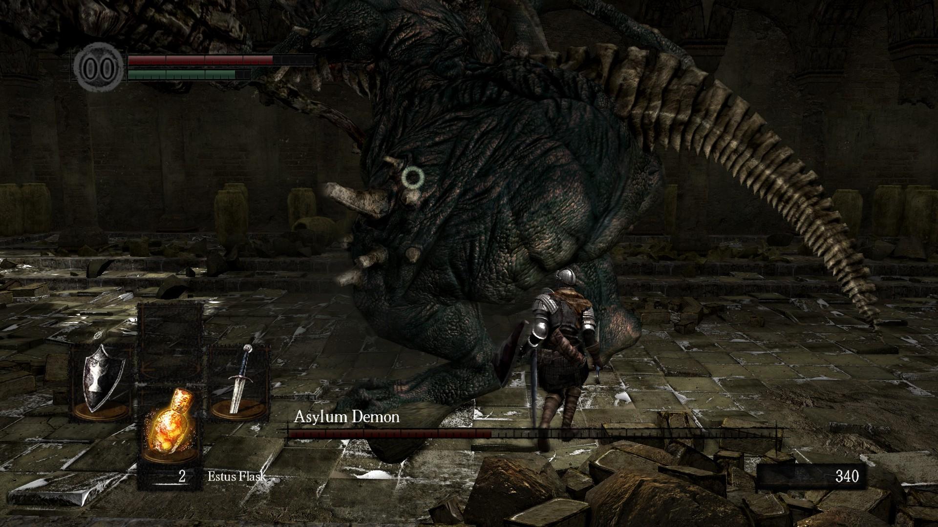 Dark Souls Asylum Demon