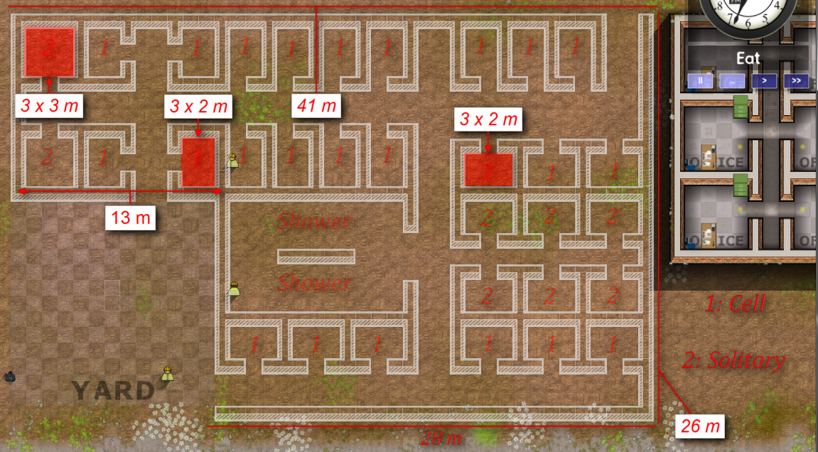 how to make a good prison in prison architect