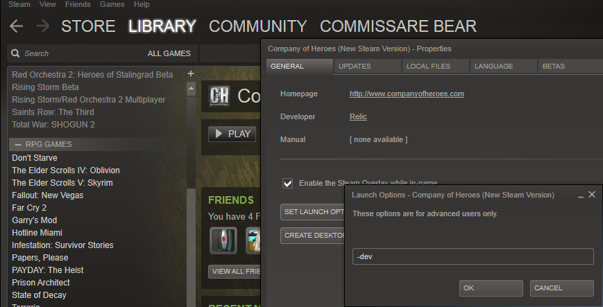 Steam Community :: Guide :: How to use console commands on Company