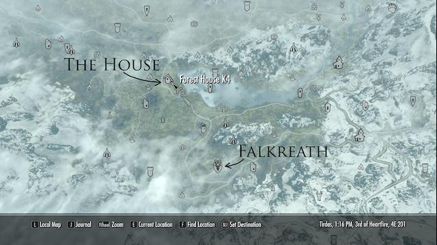 Skyrim Hearthfire Houses Locations