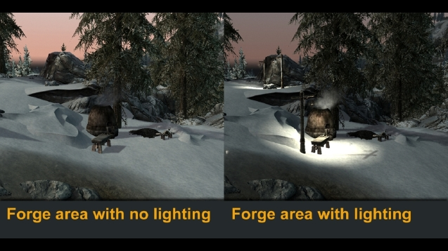 RateSteam Workshop   Outdoor lighting for the Hearthfire Heljarchen  . Hearthfire Lighting Fix. Home Design Ideas