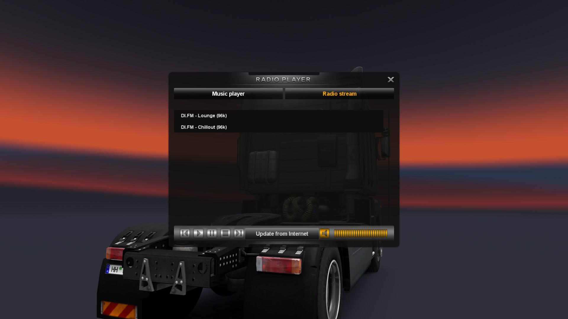 Русские радиостанции для Euro Truck Simulator 27