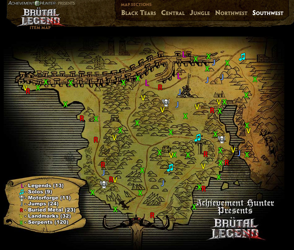 Collectibles maps brutal legend wiki guide ign.