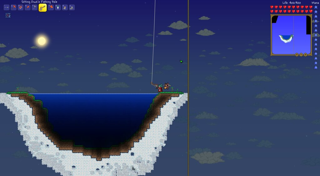Steam Community Screenshot Terraria 1241 Fishing In The