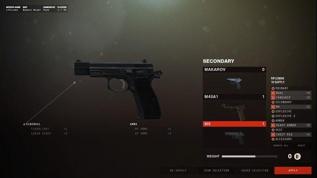 Steam Workshop Cz 75 W Night Sights Replaces M9