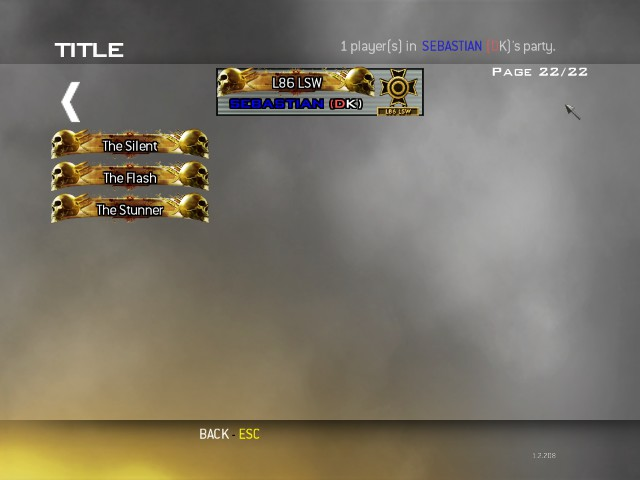 All gold titles mw2