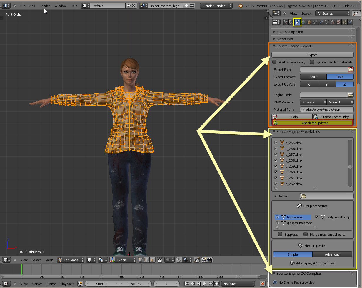 Steam Community :: Guide :: Practically any model to SFM via Blender