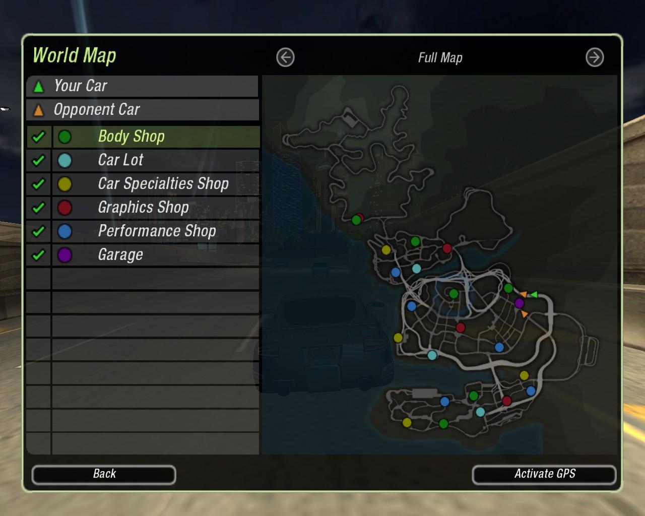 Steam Community :: Screenshot :: The map in NFS Underground 2