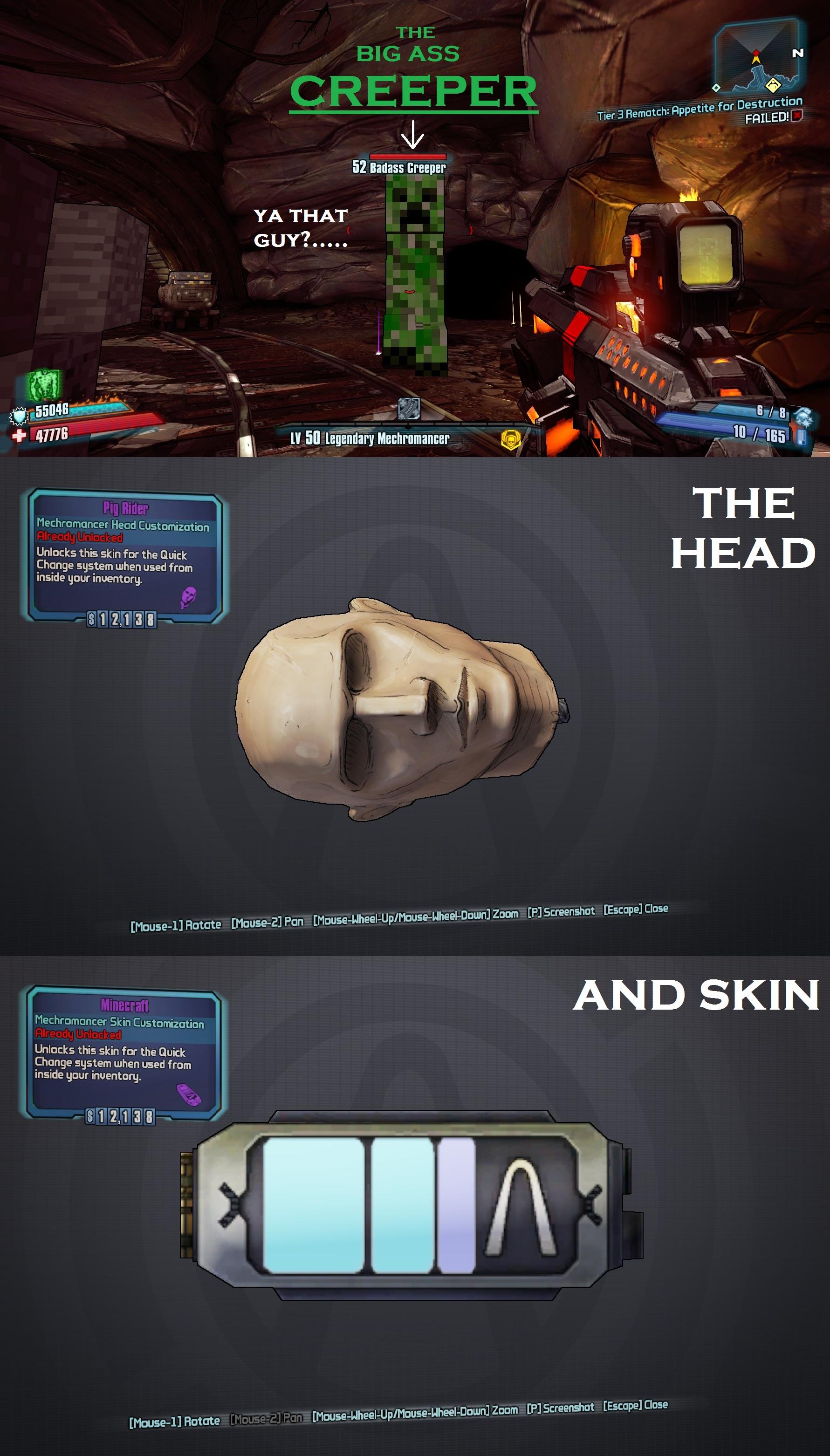 Comunidad Steam Guía BORDERLANDS MINECRAFT EASTER EGGHEADS - Skin para minecraft do zoom
