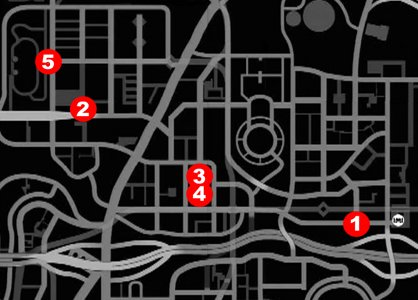 weve numbered thestunt locations here all of these are in broker the first area of the city so you can get going on these right away - Gta 4 Secret Cars Locations Xbox 360