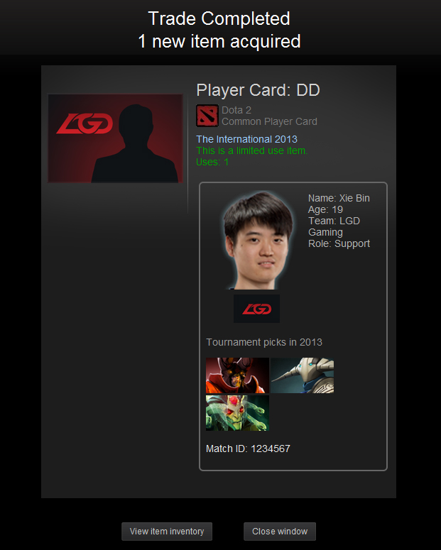steam community guide introducing the player cards