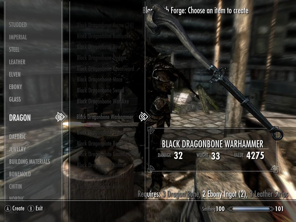 Steam Workshop Black Dragonbone Weapon Set