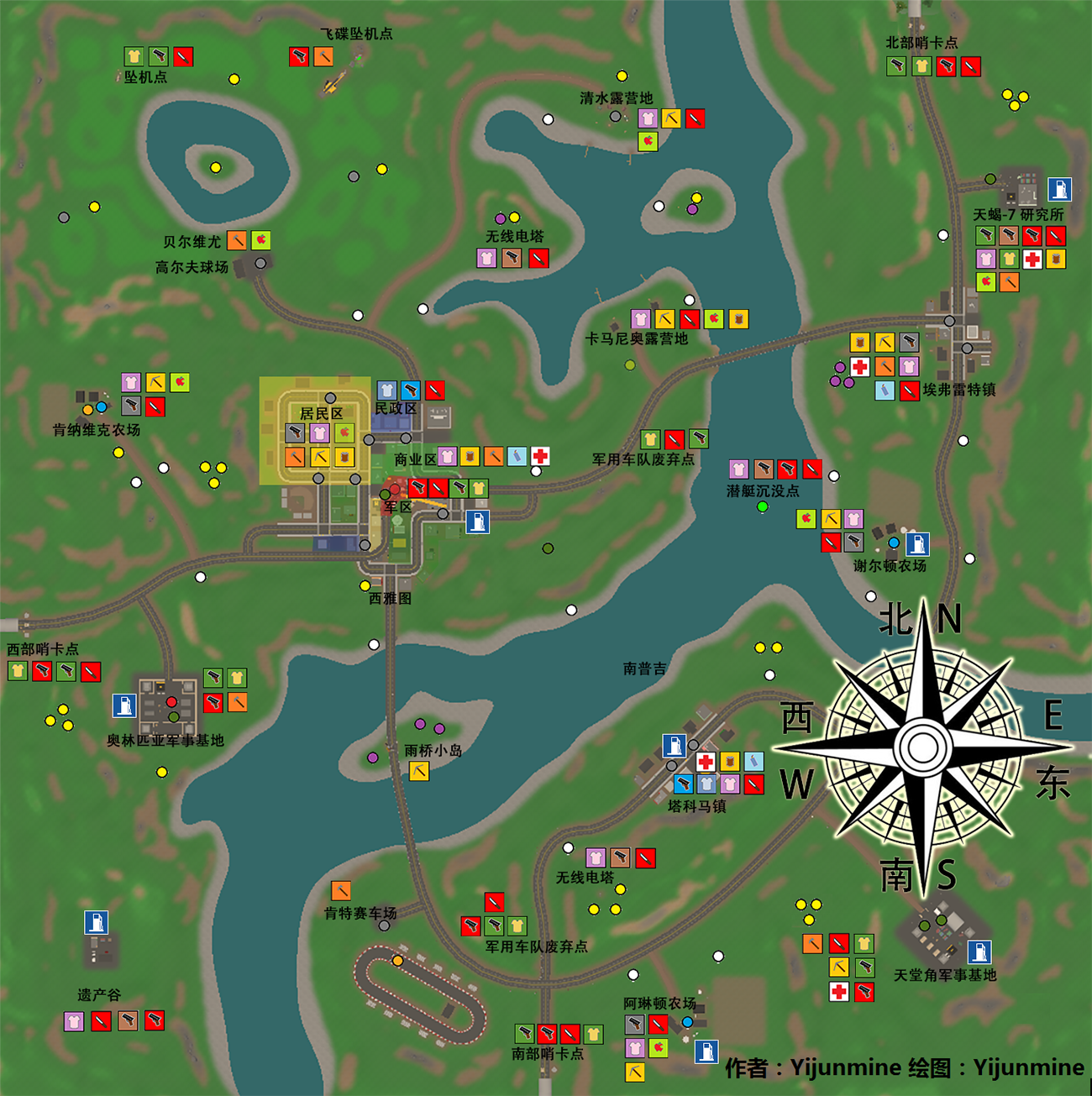 Steamsamfunn Guide Washington Detailed Map English