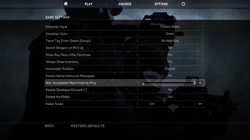 Matchmaking Ping Limit cs go