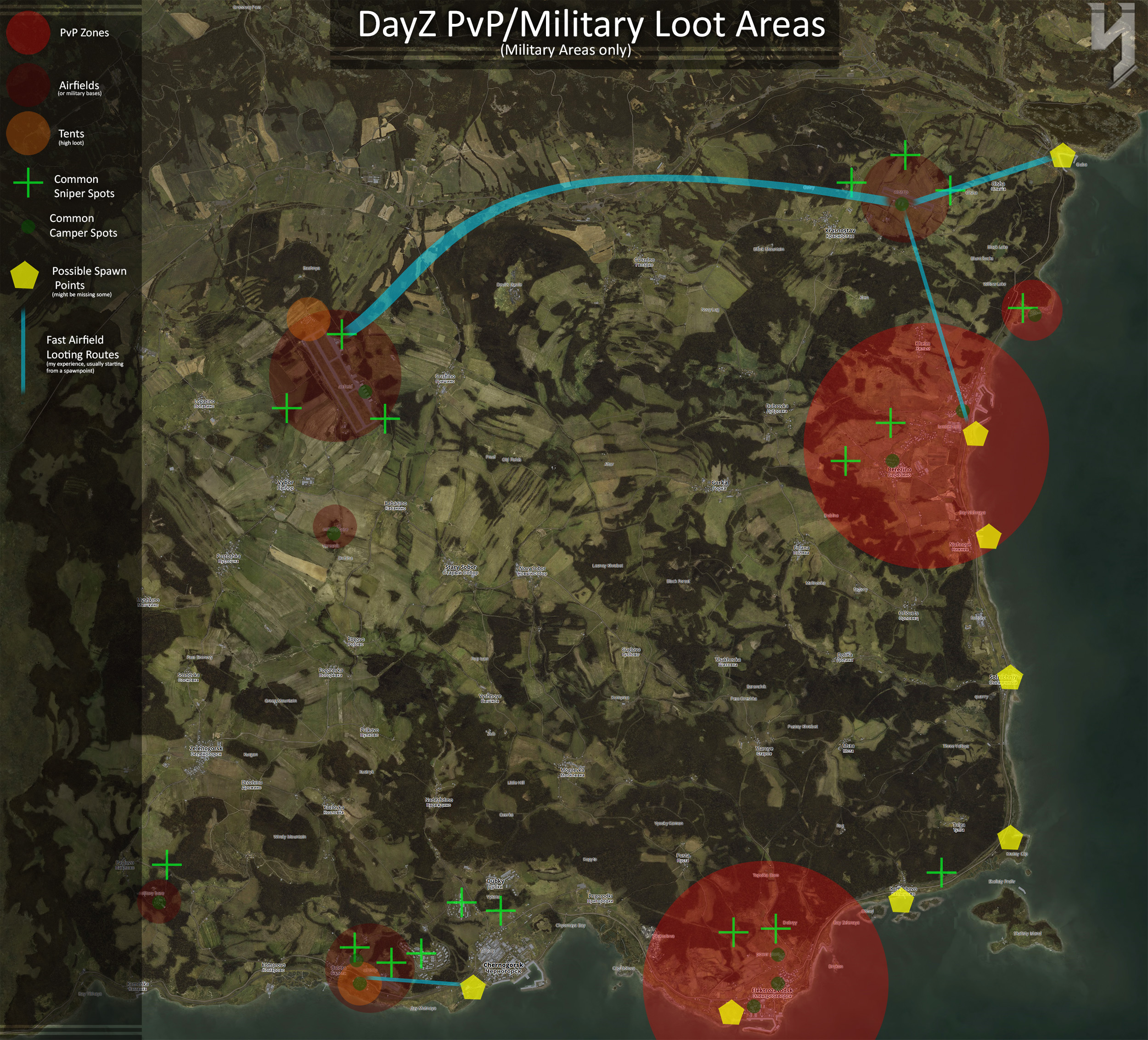 Steam Community :: Guide :: [Outdated] DayZ Simple PvP/Military Loot on