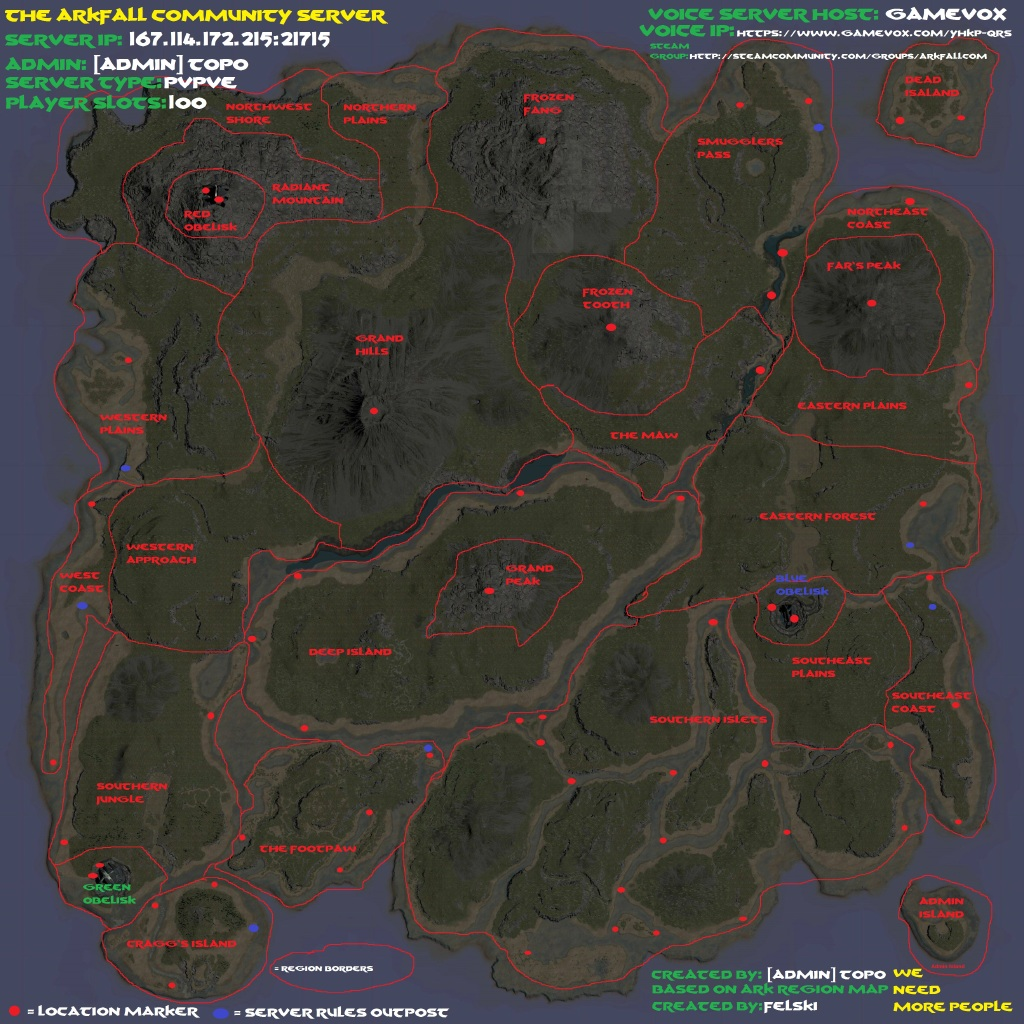 Steam Community Arkfall Community Server Region And Outpost Map - All us steam servers map