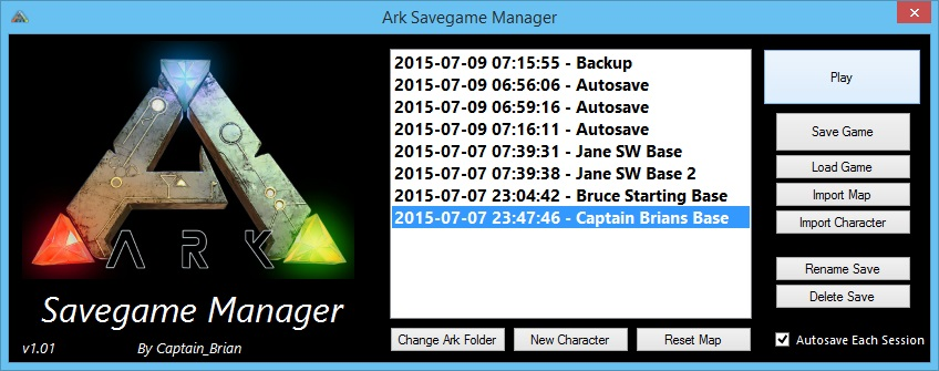 Steam Community :: Guide :: Ark Savegame Manager [DISCONTINUED]