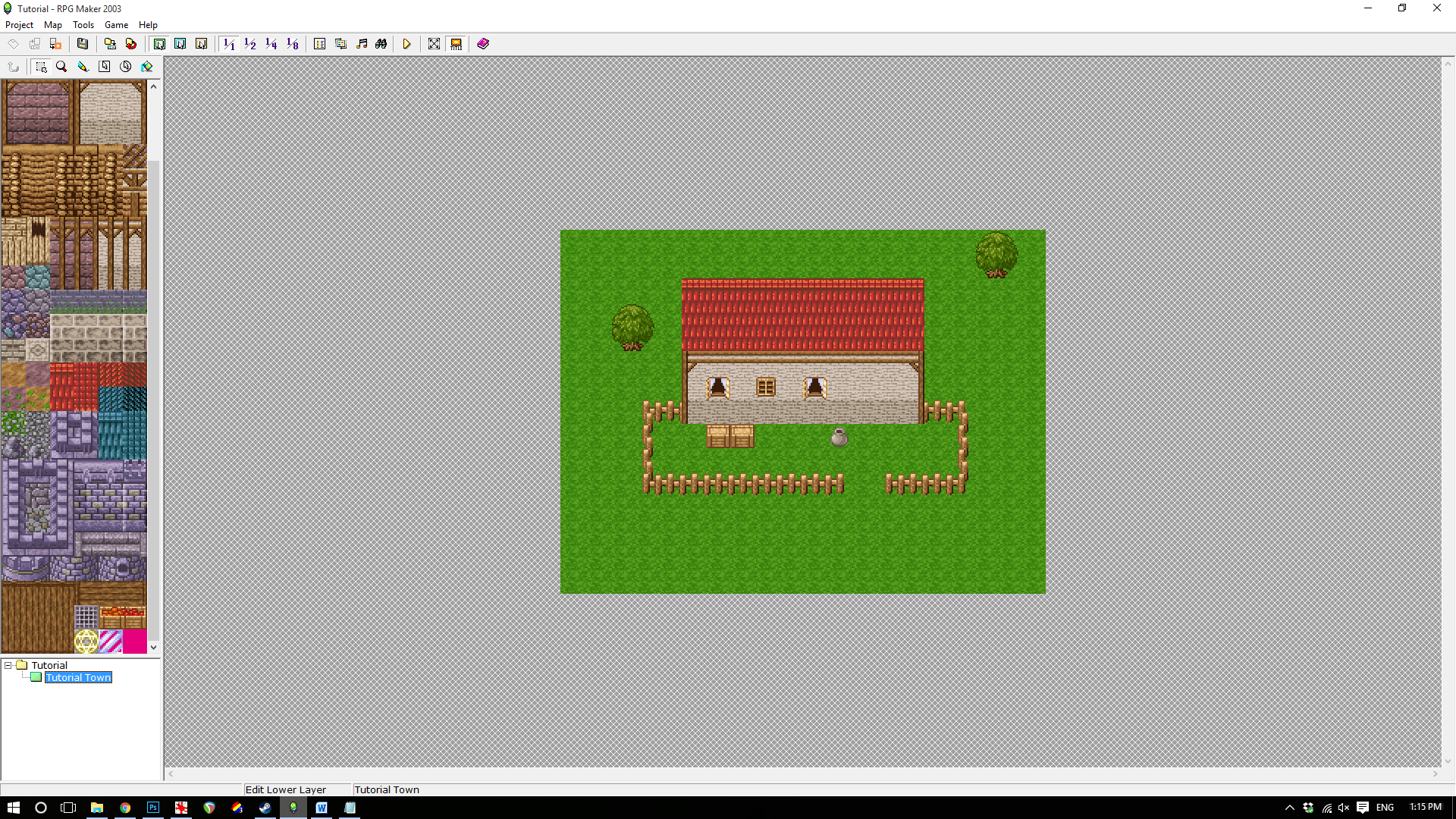 Steam community guide rpg maker 2003 basics creating a im going to shift the map up by 3 to put more of a focus on the yard in front of the house instead of the back it should look like this after baditri Gallery