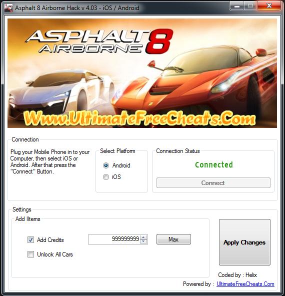 asphalt 8 airborne windows phone hack
