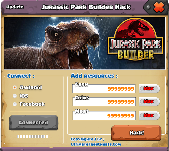 jurassic park builder cheats android download free