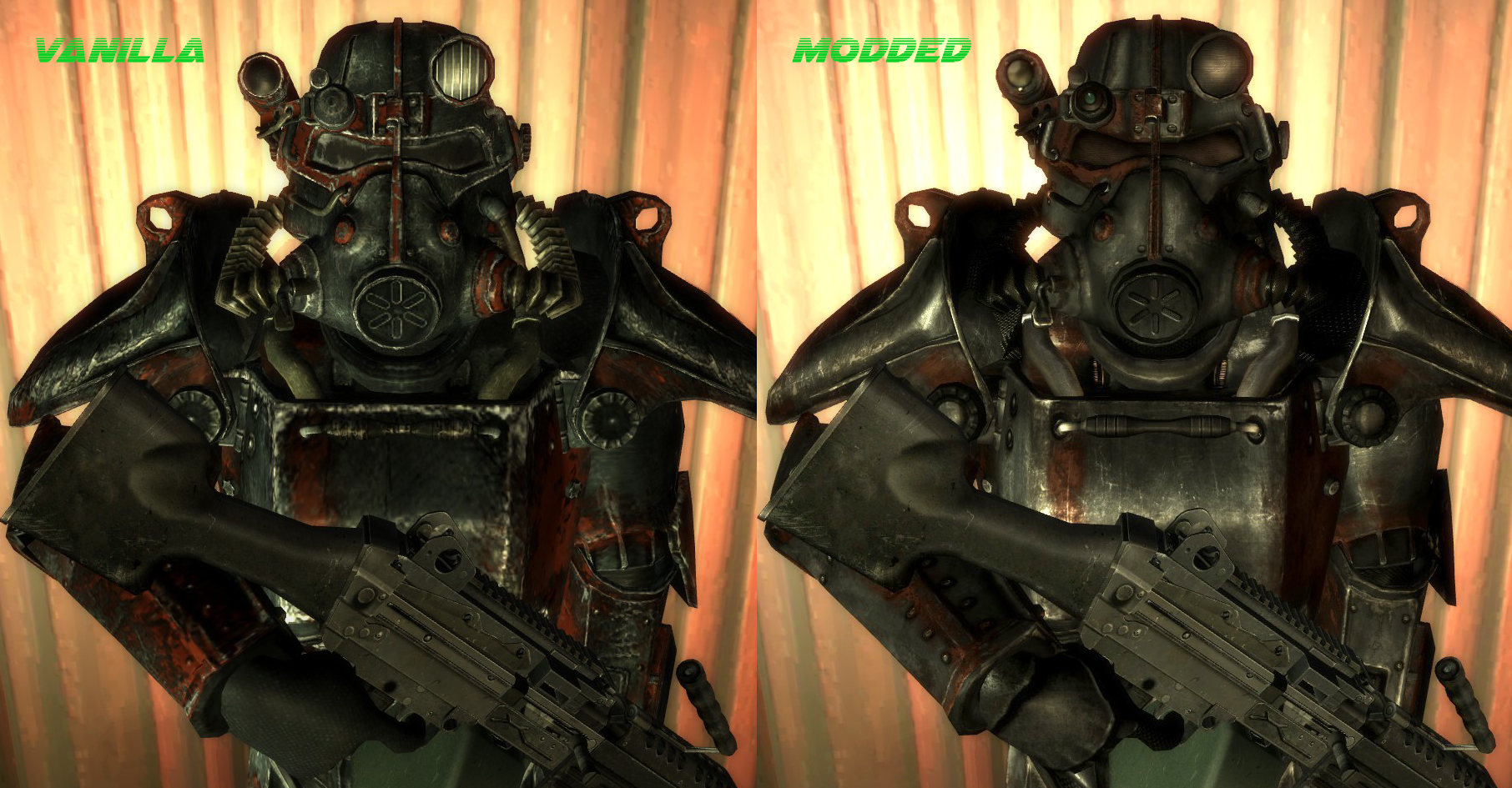 WARNING If You Install This Must Also The BOS Brotherhood Of Steel T 45d Power Armor Retexture As Listed Above Otherwise Unmodded