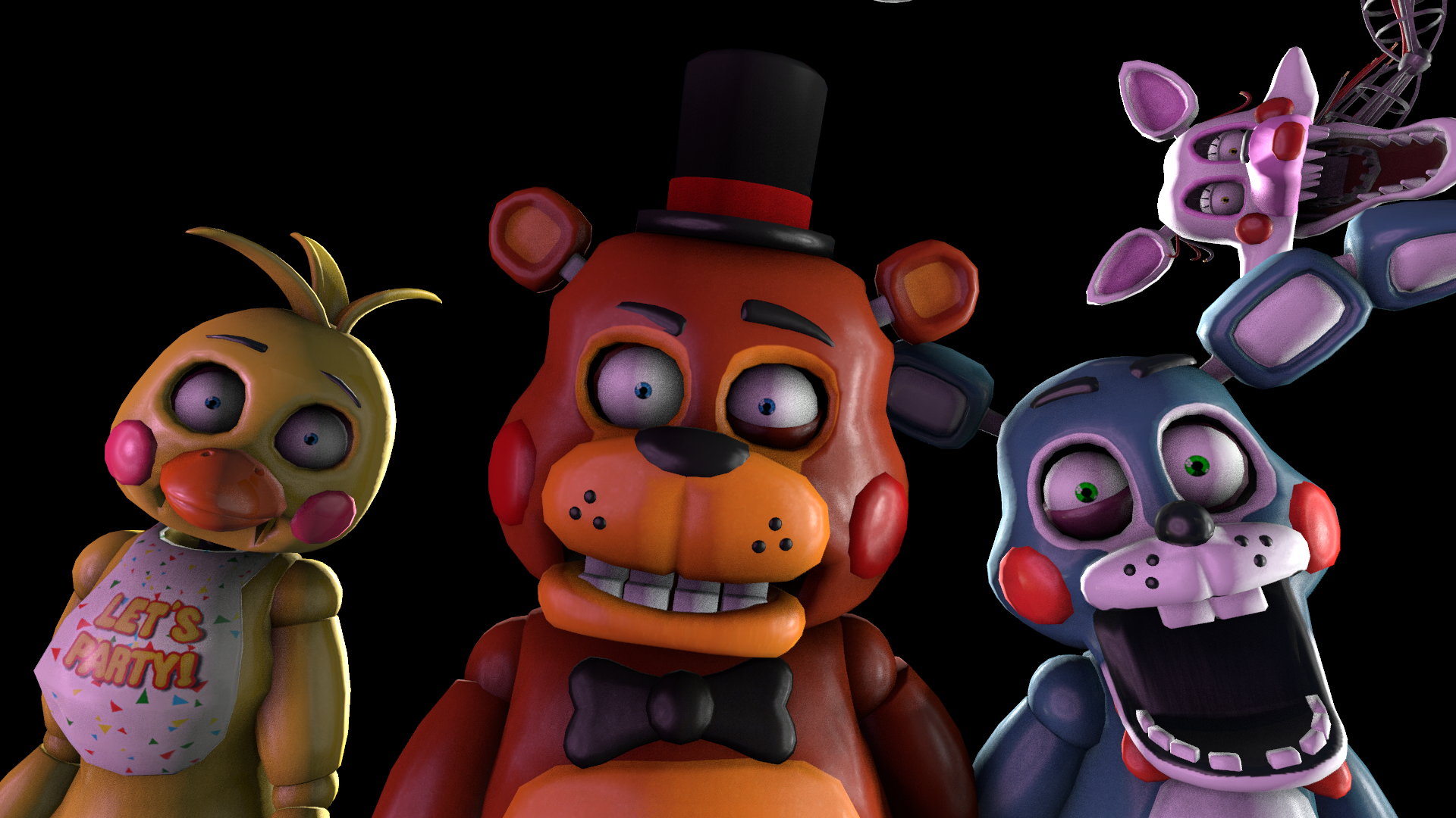 Steam Workshop :: [FNAF SFM Texture] Small eyes for the Toy Animatronics