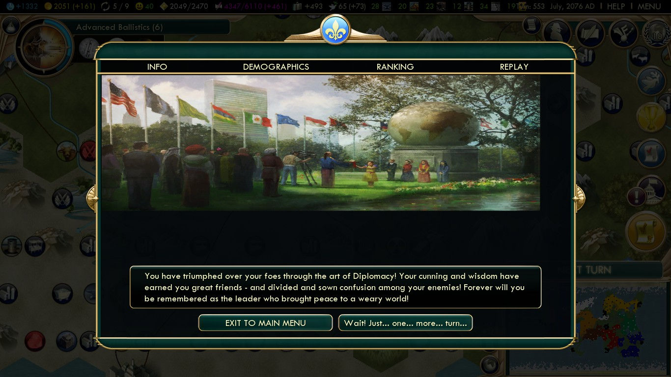 steam community screenshot diplomatic victory achieved with rh steamcommunity com Civ V Leaders Civ V Tech Tree