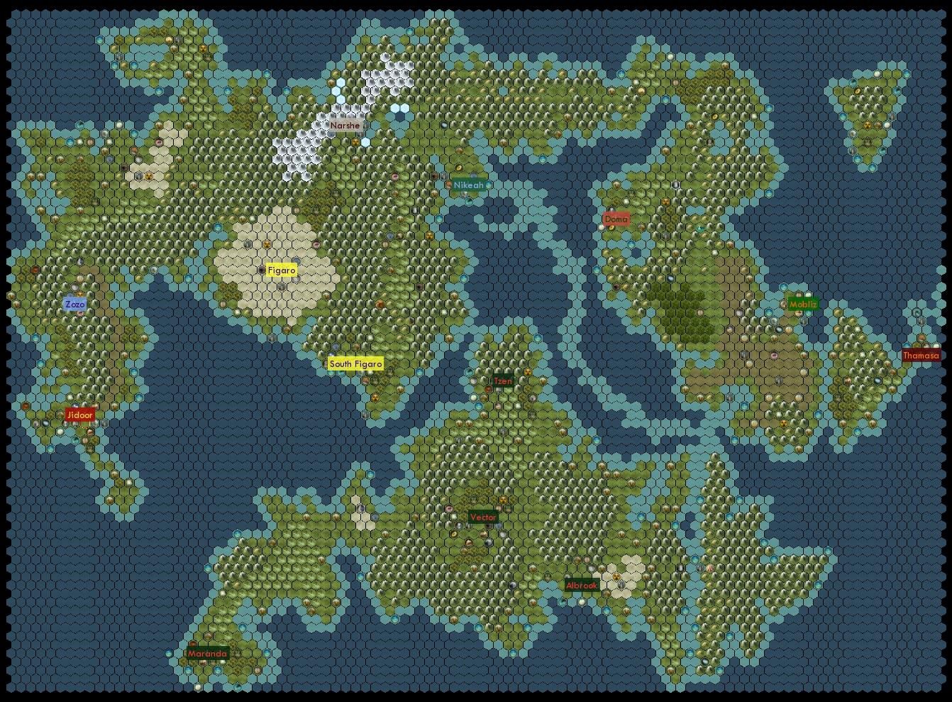 Steam Workshop :: Final Fantasy VI World of Balance Map (BNW)