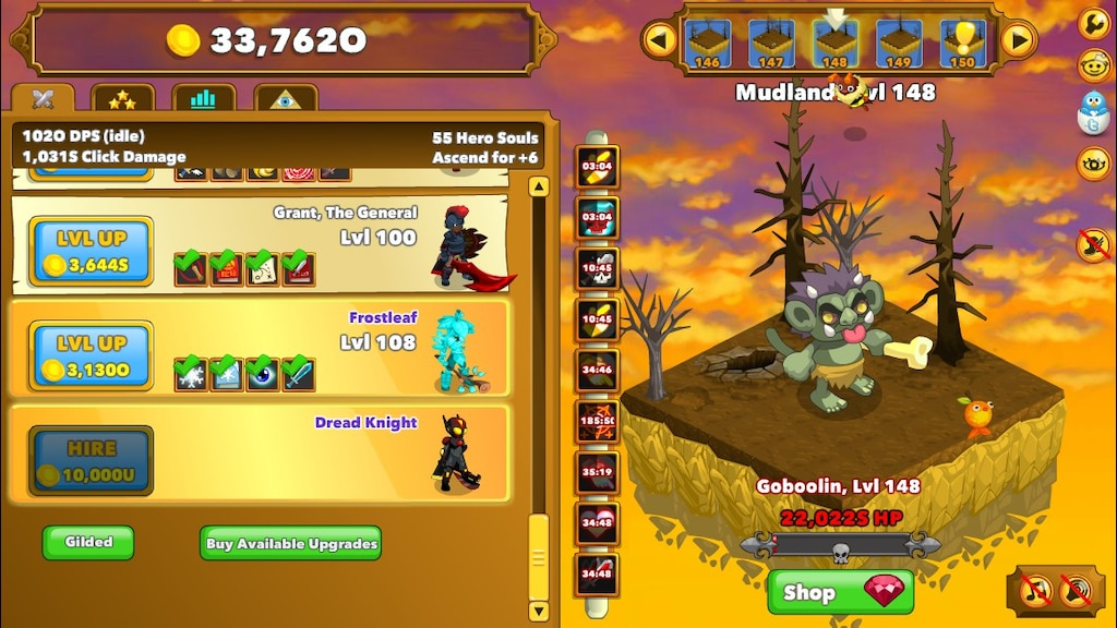 clicker heroes what does the bee do