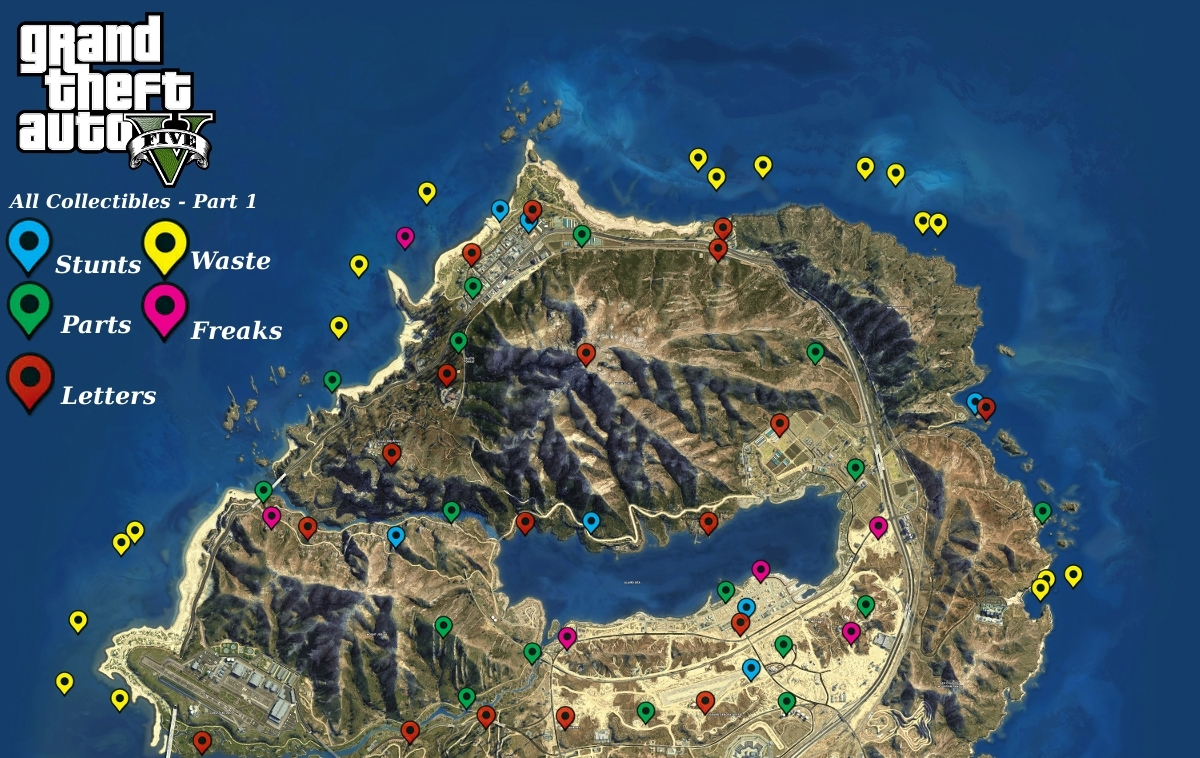 Gta5 Karte.Steam Community Guide Maps And Collectibles Locations