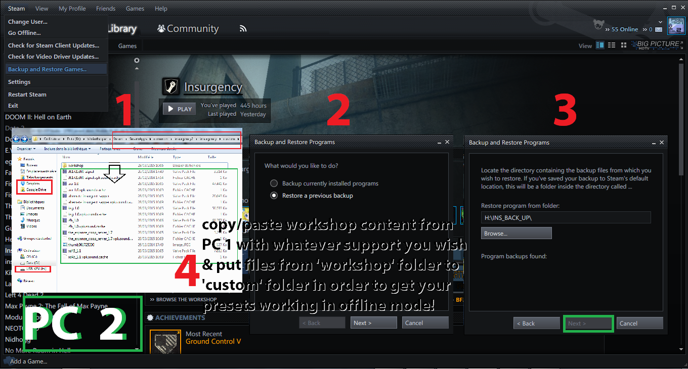 How to create a server in Steam 42