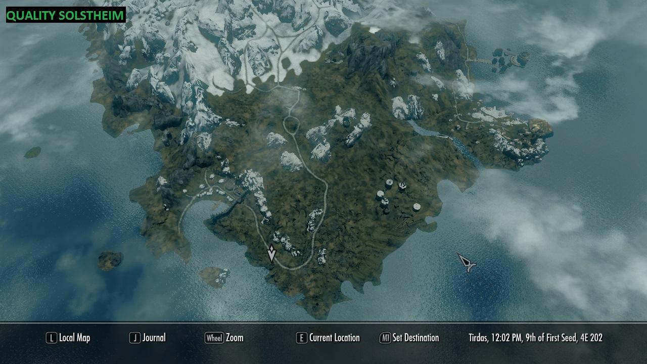 Skyrim Карта Мира Мод