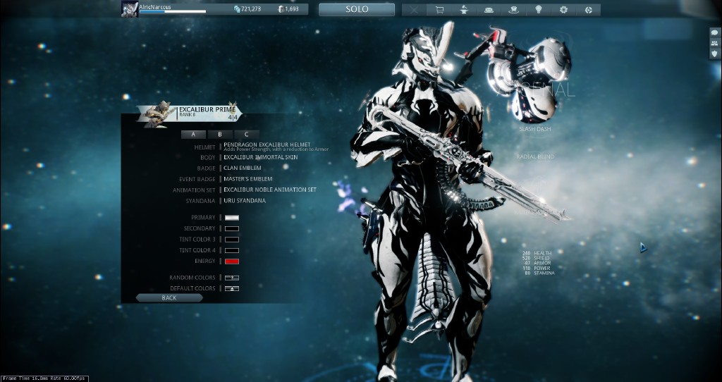 Steam Community Screenshot My Excal Prime W Immortal Skin And PennDragon Helm