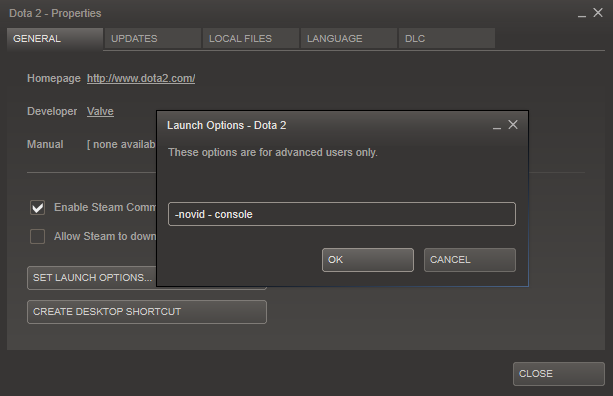 Steam Community :: Guide :: Dota2 - Parameters to run the game [ENG]