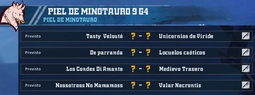 Campeonato Piel de Minotauro 9 - Grupo 4 / Jornada 5 - hasta el domingo 10 de Noviembre 1C3E3F6930BD40CC6558C17D8B583B11F7712A23