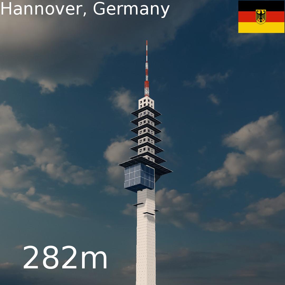 Telemax Fernmeldeturm   Hannover, Germany
