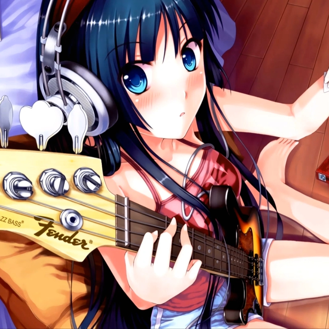 Steam Workshop Anime Girl With Bass Guitar 1080p